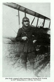 John E. Doyle instructing at Harling Road, Norfolk in 1917.jpg