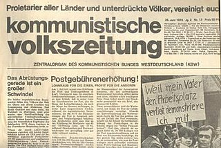 Communist League of West Germany communist party