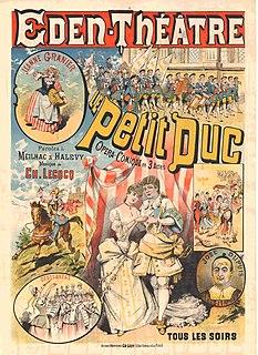 <i>Le petit duc</i> opéra comique by Charles Lecocq