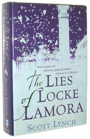 "Cover to the US hardback edition of ""The Lies of Locke Lamora"""