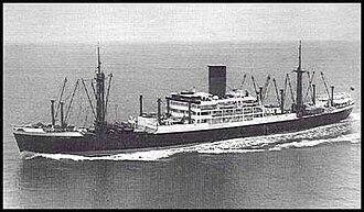 HMS Activity (D94) - Image: MV Breconshire 1958