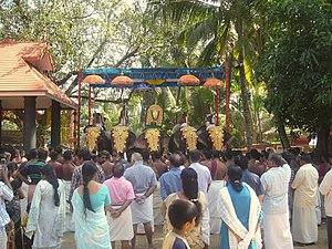Thamaramkulangara Sree Dharma Sastha Temple - Morning Sheeveli