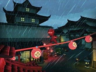 Mini Ninjas - Wii gameplay screenshot with Hiro