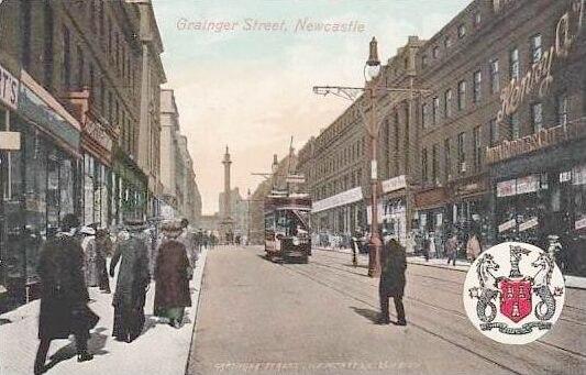 Newcastle England, Grainger Street c. 1906