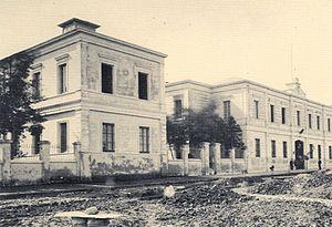"Hospital de Clínicas ""José de San Martín"" - Old building of the Hospital de Clínicas, located where today stands the Houssay Square in Buenos Aires."