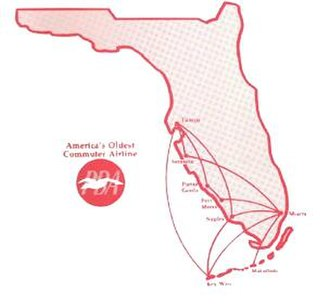 Provincetown-Boston Airlines - PBA Florida Network in 1982