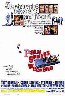 <i>Palm Springs Weekend</i> 1963 film by Norman Taurog