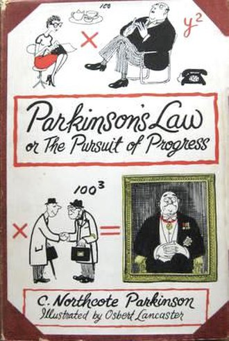 Parkinson's law - UK First edition book cover