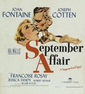 <i>September Affair</i> 1950 film by William Dieterle