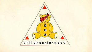 Children in Need - The very first Pudsey bear and logo, used in 1985