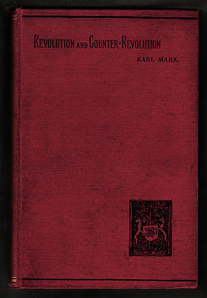 Revolution and Counter-Revolution in Germany - Image: Revolution and counter revolution cover 1896