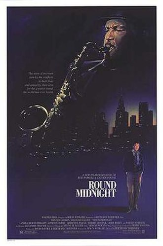 Round Midnight (film) - Theatrical release poster by Steven Chorney
