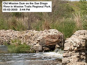 Old Mission Dam in Mission Trails Regional Park