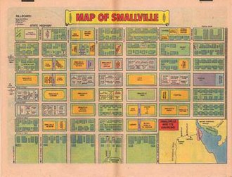Smallville (comics) - Image: Smallville silver age map