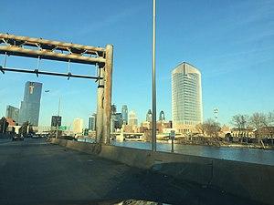 Schuylkill Expressway - Skyline of Philadelphia from the Expressway