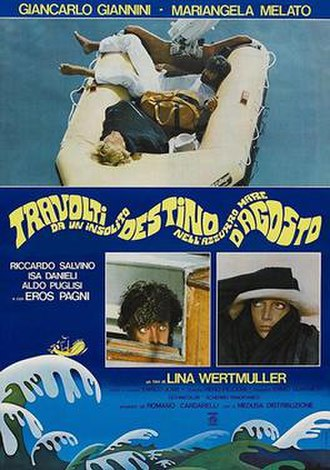 Swept Away (1974 film) - Italian theatrical release poster