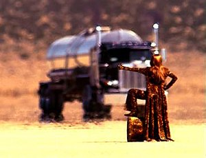 "That Don't Impress Me Much - Shania hitchhiking in the desert in the ""That Don't Impress Me Much"" video"