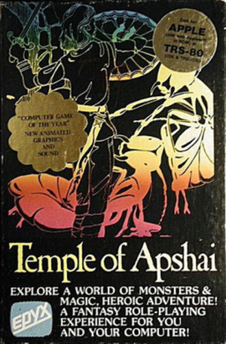 Temple of Apshai - Cover art by Karen Gerving