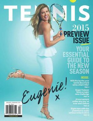 Tennis (magazine) - Cover of Jan/Feb 2015 issue featuring Eugenie Bouchard