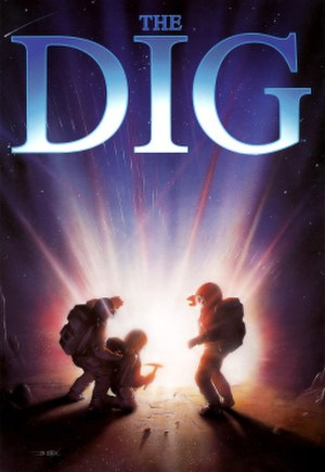 The Dig - The cover artwork for The Dig, displaying the three astronauts in the story