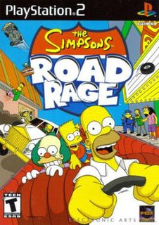 <i>The Simpsons: Road Rage</i> vehicular combat video game