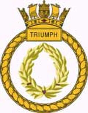 HMS Triumph (S93) - Image: Triumph Crest