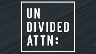 Undivided ATTN: - Cropped title screen from the show, which is broadcast in a vertical format