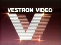 Vestron Video logo, from 1986