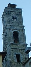Photograph of the village's clock tower