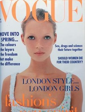 Corinne Day - Day photographed Kate Moss for her first Vogue cover in 1993.