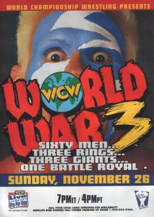 World War 3 (1995) - Promotional poster featuring Sting