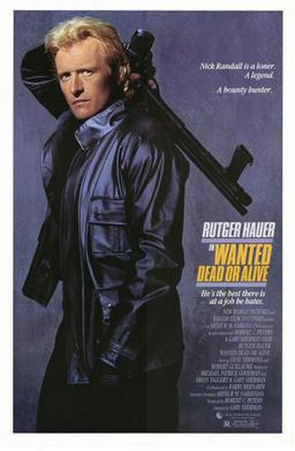 Wanted: Dead or Alive (1987 film) - Theatrical release poster