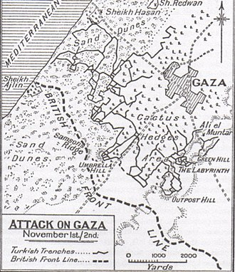 Third Battle of Gaza - Gaza attacks on 1 and 2 November