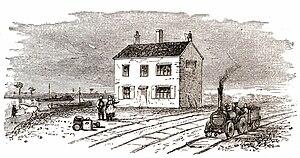 Leicester West Bridge railway station - West Bridge Station in 1832