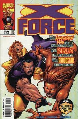 Feral (comics) - Image: Xforce 90
