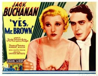 <i>Yes, Mr Brown</i> 1933 film by Herbert Wilcox