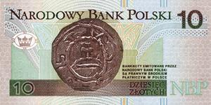 10 złotych note - Image: 10zl rewers