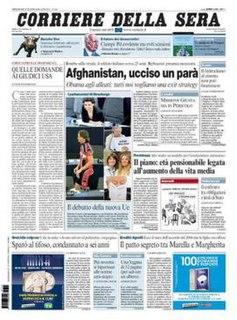 <i>Corriere della Sera</i> Italian newspaper