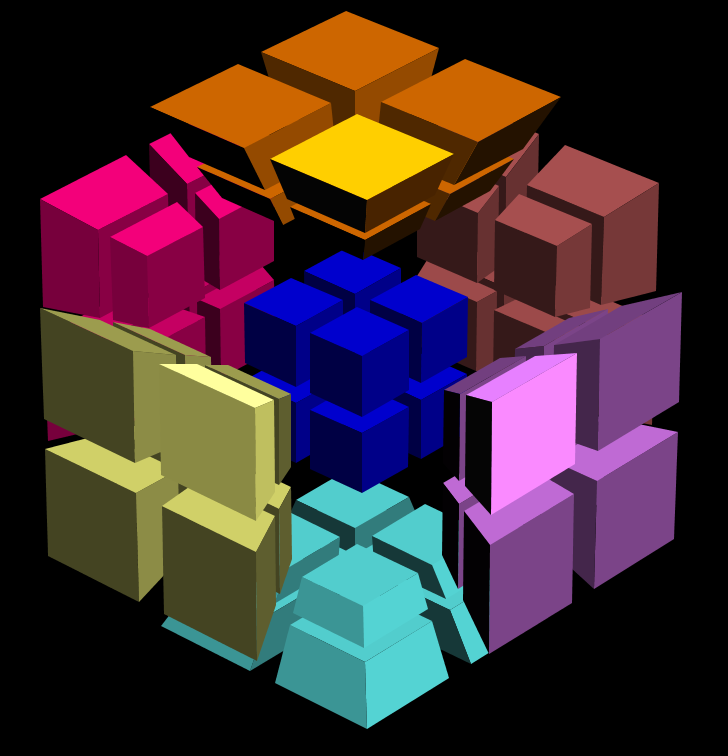 4-cube 2^4 highlighted