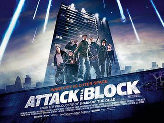 Attack the Block - UK theatrical release poster