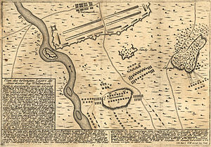 Battle of White Marsh - A German map of the Battle of White Marsh.