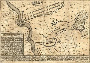 Battle of White Marsh - A German map of the Battle of White Marsh.