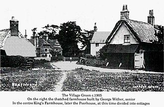Bentworth - The north side of Bentworth village green in 1905