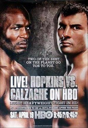 Bernard Hopkins vs. Joe Calzaghe - Image: Bernard Hopkins vs. Joe Calzaghe (HBO fight poster)