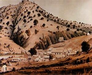 Bidwell's Bar, California - Bidwell's Bar, c. 1854 (artist unknown)
