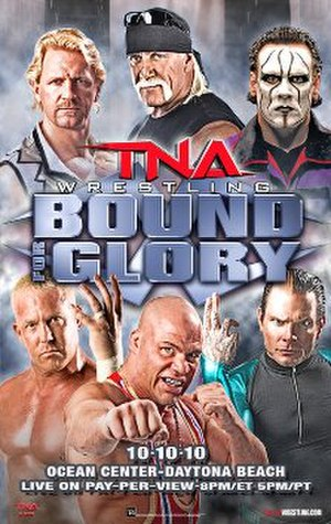 Bound for Glory (2010) - Promotional poster featuring various TNA wrestlers