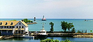Chicago Harbor Light - Chicago Breakwater and Pierhead light