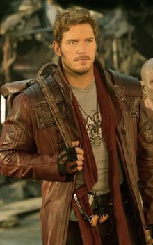Peter Quill Starlord Guardians of the Galaxy 2 Chris Pratt Leather Jacket