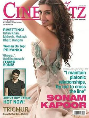 Cine Blitz - An issue of Cine Blitz featuring Sonam Kapoor on the cover