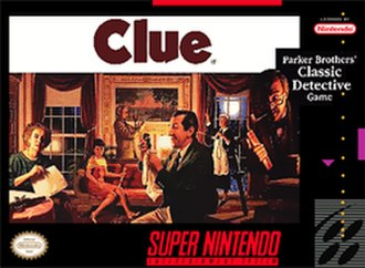 Clue (1992 video game) - Super NES cover art.